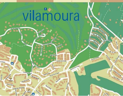 Map Vilamoura Portugal