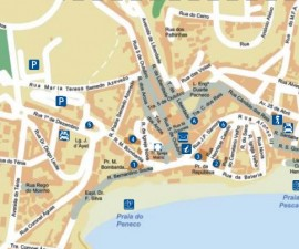 Map of Albufeira Portugal
