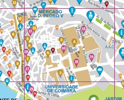 Map Coimbra Portugal