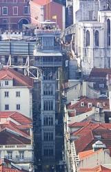 Lisbon - Elevador de Santa Justa - Bairro Alto by Lee Kindness @Wikimedia.org